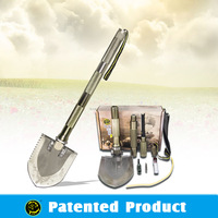 Best Earthquake Disaster Kit Multifunction Shovel With Knife Saw Hammer Pickaxe