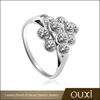 OUXI 2015 luxury style value diamond sterling 925 silver ring Y70072