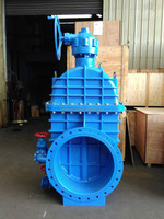 YQZ545X-10Q/16Q Bevel Gear Operated Resilient Seated Gate Valve, DN 400-1200mm, PN 1.0/1.6MPa