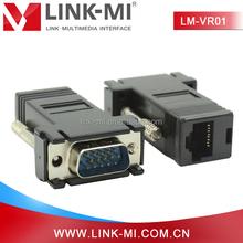 LINK-MI LM-VR01 Mini VGA Converter VGA Male to Cat5e/6 Network Cable Female Adapter