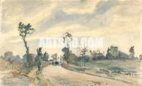 Road to Saint Germain, Louveciennes,1871 By Camille Pissarro