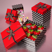 red top nice ribbon gift box
