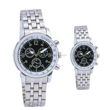 lovers wathes with stainless steel strap and water resistant