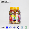 Halal sweets snack round jar fruit mini jelly cup
