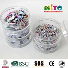 Auto-adesivo pvc móveis olhos para diy fornecimento de fábrica plstic brinquedo olhos