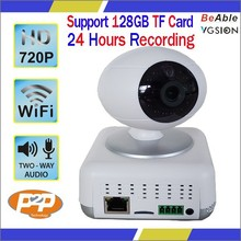 720p two way audio onvif p2p best home surveillance camera supprot 128 GB TF card backend NVR storage