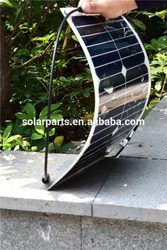 18W OEM flexible solar panel for home & yacht & RV & boat & golf carts made in china--factory direct sale