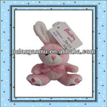 Plush Soft Mini Cute Sitting Rabbit With Embroidery Keychain