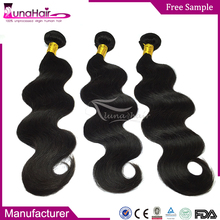 Wholesale unprocessed brazilian human hair extensions , weave 100% brazilian human hair