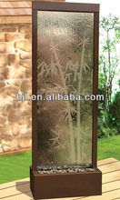 glass waterfall chinese room divider