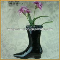 ceramic shoe vase
