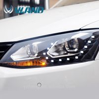 CE CCC 2012 2013 up car accessories headlamps for auto parts vw jetta projector headlight and full stock headlights with ABC 12V