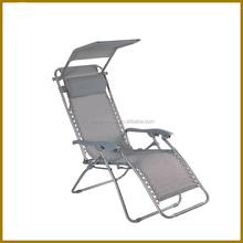 LG-BA-101 Yongkang LanGe steel and fabric folding beach armchair lounge chair