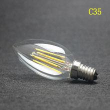 POSCN High quality C35 E14 LED filament bulb 4w candle bulb Energy saving