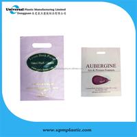customer packaging type die cut handle plastic bags