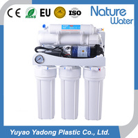 5 stage RO water filter system with pressure gauge