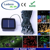 2016 Promotion rgb or single color Wedding Party Xmas outdoor solar string 12m 100 leds Christmas Light