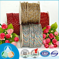8mm recycled waxed pet woven core cotton rope