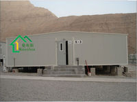 Slop roof simple/economic modular/portable/movable container living house/home for dormitory/office