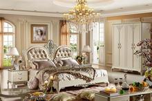 Matt white elegent bedroom sets