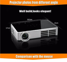 Best quality mini pocket dlp 600 ansi full hd 1080p projector for party business