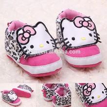 de algodón de estilo de dibujos animados suave zapatilla de deporte de moda niño zapatos de bebé