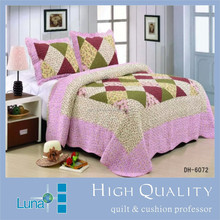 High Quality Fully Quilted Embroidery Quilts Bedspread Bed Coverlets Cover Set