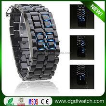 Best Selling Waterproof Wrist watches men , Full Stainless Steel Digital LAVA LED Watch