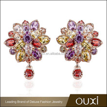 2015 New arrival OUXI fashion design latest top earring manufacturer