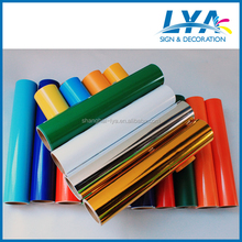 PVC self adhesive vinyl for cutting plotter with colors super glossy gold,green, blue, red,etc.
