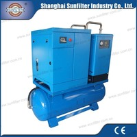 10hp 7.5kw Combined Screw Air Compressor for 37 kw kompresor angin
