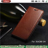 2015 Christmas Latest listing for xiaomi m4 Cowhide phone case, Dermis Phone Case for xiaomi 3 Protective sleeve holster