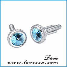 Five Color for Choice~~Crystal Tiny Cufflink, Swarovski Elements Exquisite Jewelry, Charming Stunning Cuff-Link, Wholesale