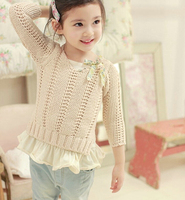 d47101a 2015 spring pure color sweater designs for kids children girls boutique sweaters