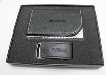 leather gift sets wholesale 8gb usb flash drive bulk cheap