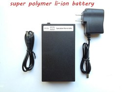 12v 9800mAh OEM long life cycle lithium ion polymer battery with 12.6v AC li-ion black battery charger for LED panel supplier