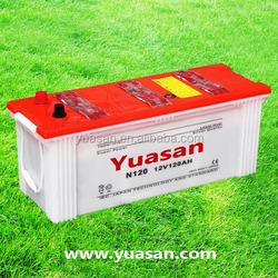Yuasan Professionally-Producing 12V120AH Dry Charged Auto Battery -- N120