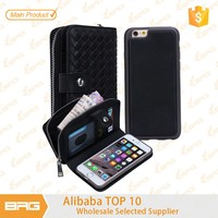 BRG Luxury PU Leather Flip Mobile Phone Cover Cases with Wallet Photo Card Holders Function Pouch Bag For Apple iphone 6 4.7inch