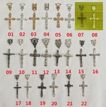 vintage silver bronze metal Jesus Cross Charms Religious cross Charms pendants Christian cross Religious Pendant charms