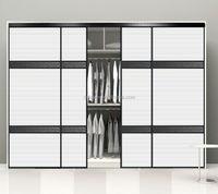 Factory Wholesale modern closet sliding PVC plastic louvered doors with grey mirror