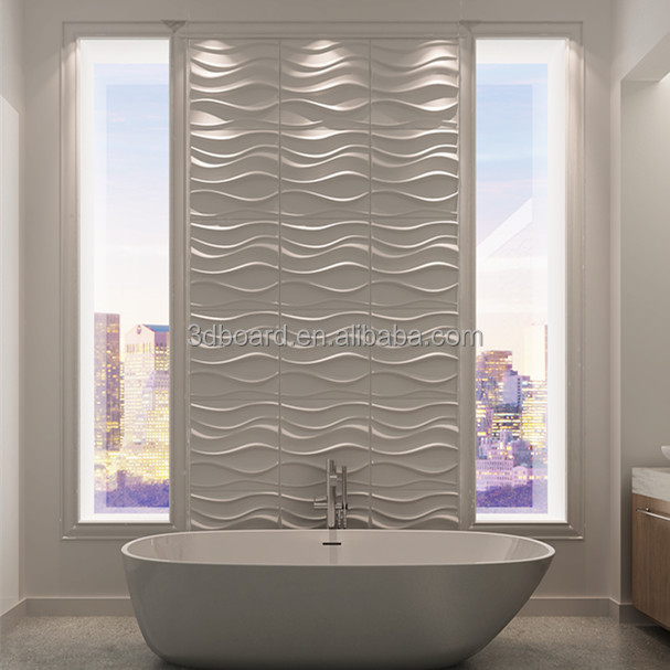 Waterproof bathroom wall panels