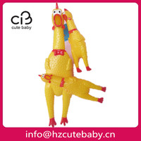 dog yellow rubber chicken toys