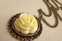 retro style rose sweater necklaces jewelry 2013 fashione