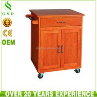 wholesale new design kitchen wood storage cabinet with wheel