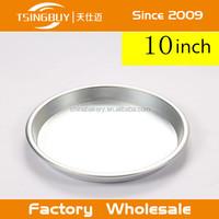 Pizza bakware accessories postive finish pizza tray/aluminum pie pan/microwave pizza tray