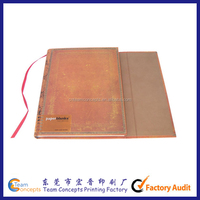 A5 journal diary PU leather cover notebook with pen