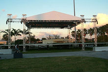 45'x35' 6 tower stage with fly wings system