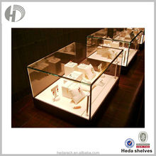 3-layer wooden travel jewelry display case for retail