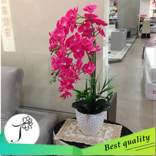 bulk artificial flower orchid and foliages for wedding decorative centerpieces