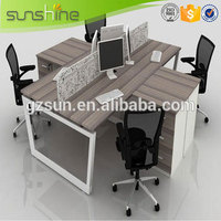 Stainless steel Melamine Workstation, Used Glass Wall Partition, High Quality Cheap Cubicles
